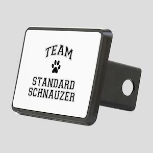 Team Standard Schnauzer Rectangular Hitch Cover