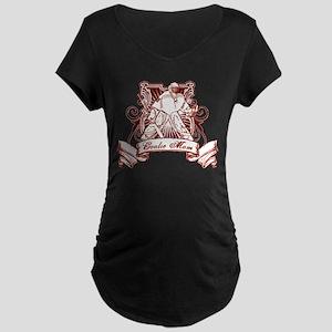 Hockey Goalie Mom Maternity Dark T-Shirt