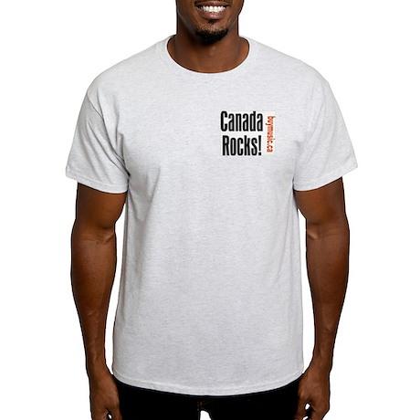 Canada Rocks Ash Grey T-Shirt