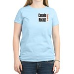 Canada Rocks! Women's Pink T-Shirt