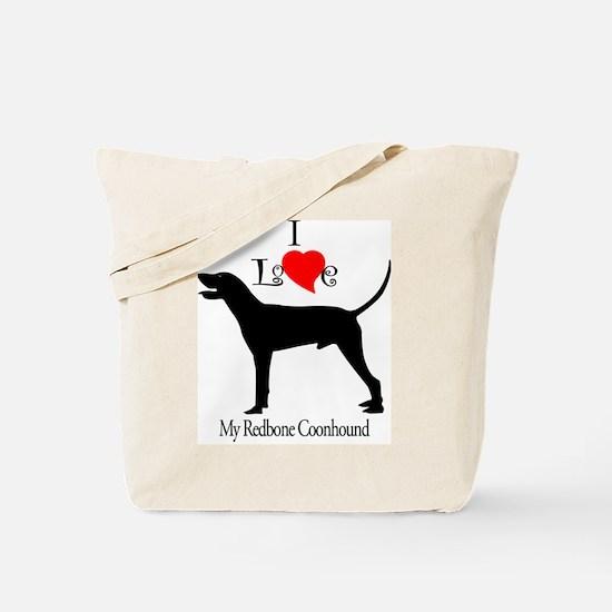 Redbone Coonhound Tote Bag