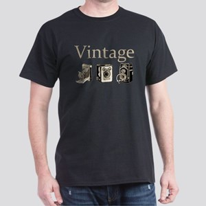 Vintage-Tan and Black Dark T-Shirt