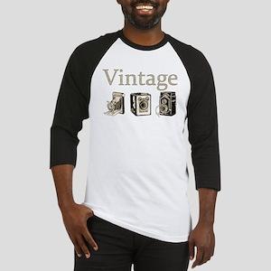 Vintage-Tan and Black Baseball Jersey