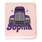 Trucker Sophia baby blanket