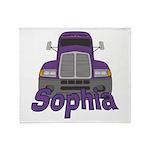 Trucker Sophia Throw Blanket