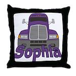 Trucker Sophia Throw Pillow
