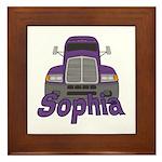 Trucker Sophia Framed Tile