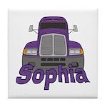 Trucker Sophia Tile Coaster