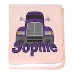 Trucker Sophie baby blanket