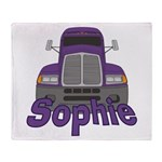 Trucker Sophie Throw Blanket