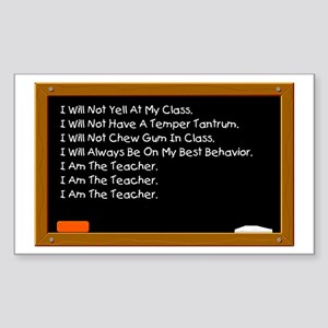 I Am The Teacher Rectangle Sticker