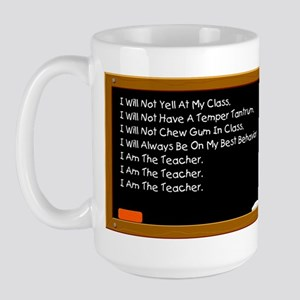I Am The Teacher Large Mug