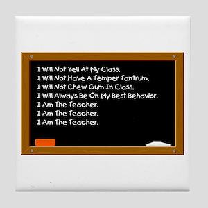 I Am The Teacher Tile Coaster