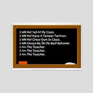 I Am The Teacher Rectangle Magnet