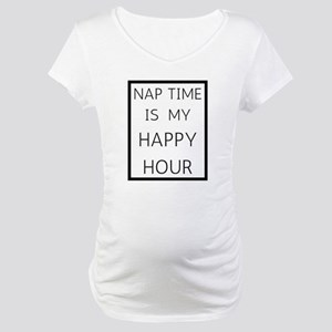 Nap Time Happy Hour Maternity T-Shirt