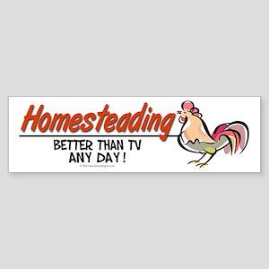 Homesteading Bumper Sticker