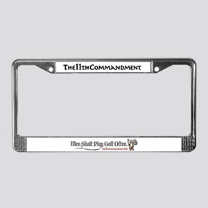 Men Shalt Play Golf Often License Plate Frame