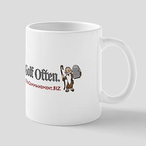 Men Shalt Play Golf Often Mug