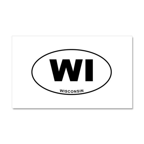 Wisconsin State Car Magnet 20 x 12