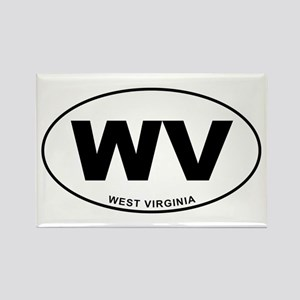 West Virginia State Rectangle Magnet