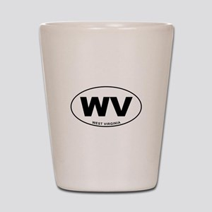 West Virginia State Shot Glass