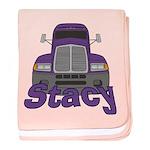 Trucker Stacy baby blanket