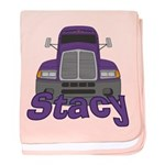 Trucker Stacy baby blanket