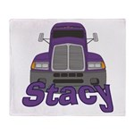 Trucker Stacy Throw Blanket