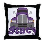 Trucker Stacy Throw Pillow