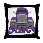 Trucker Stacy Throw Pillow