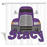 Trucker Stacy Shower Curtain