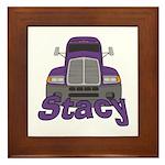 Trucker Stacy Framed Tile
