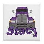 Trucker Stacy Tile Coaster