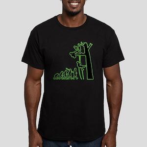 Tree Climbing Men's Fitted T-Shirt (dark)