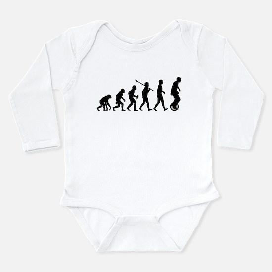 Unicycling Long Sleeve Infant Bodysuit