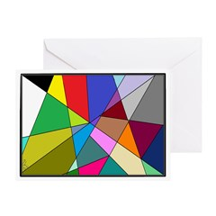 Picasso GlassTessellation (Blank Greeting Card)