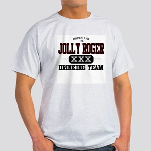 Jolly Roger Drinking Team Ash Grey T-Shirt