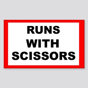 Runs With Scissors - Rectangle Sticker