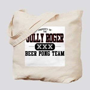 Jolly Roger Beer Pong Team Tote Bag