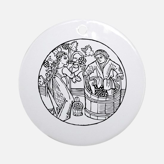 Winemakers Ornament (Round)