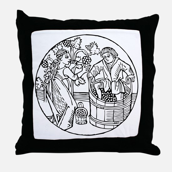 Winemakers Throw Pillow
