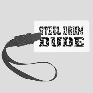 Steel Drum Large Luggage Tag