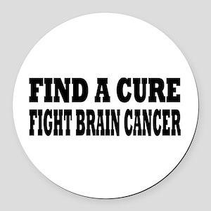 Brain Cancer Round Car Magnet