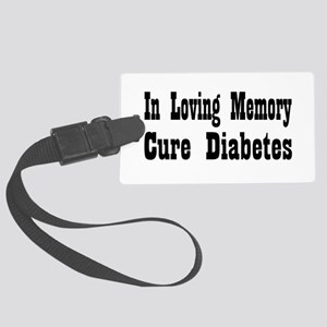 diabetes12 Large Luggage Tag