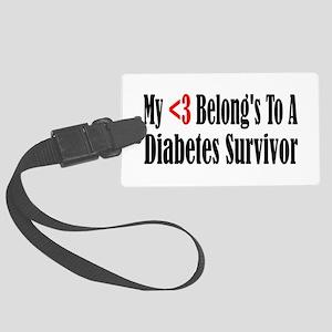 diabetes4 Large Luggage Tag