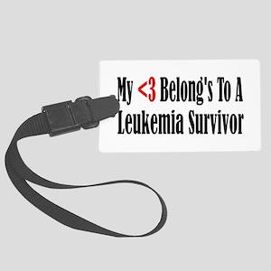 leukemia4 Large Luggage Tag