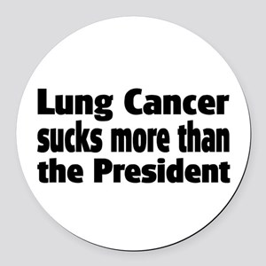Lung Cancer Round Car Magnet