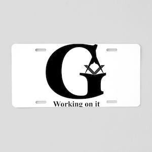 The Reversed Masonic G Aluminum License Plate