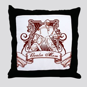 Hockey Goalie Mom Throw Pillow
