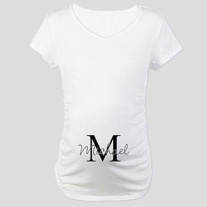 Customize Monogram Initials Maternity T-Shirt